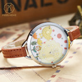 Miss Keke 3D Clay Bird Cartoon Watches Young Girls Kids Quartz Watches Clock Bracelet Casual Dress Leather Wrist Watches 821
