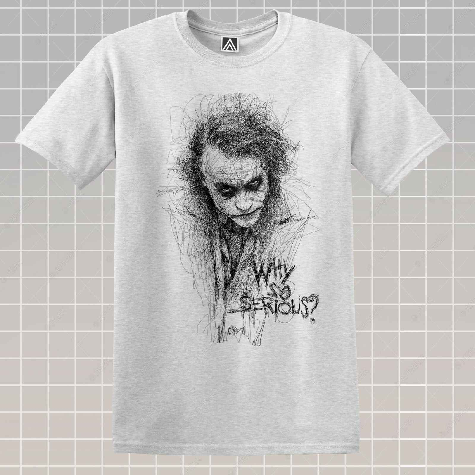 Джокер футболка с рисунком Gotham Ретро комиксов почему так серьезно футболка Винтаж злодей Топ Повседневное короткий рукав Футболка Топы Оптовая Продажа Tee