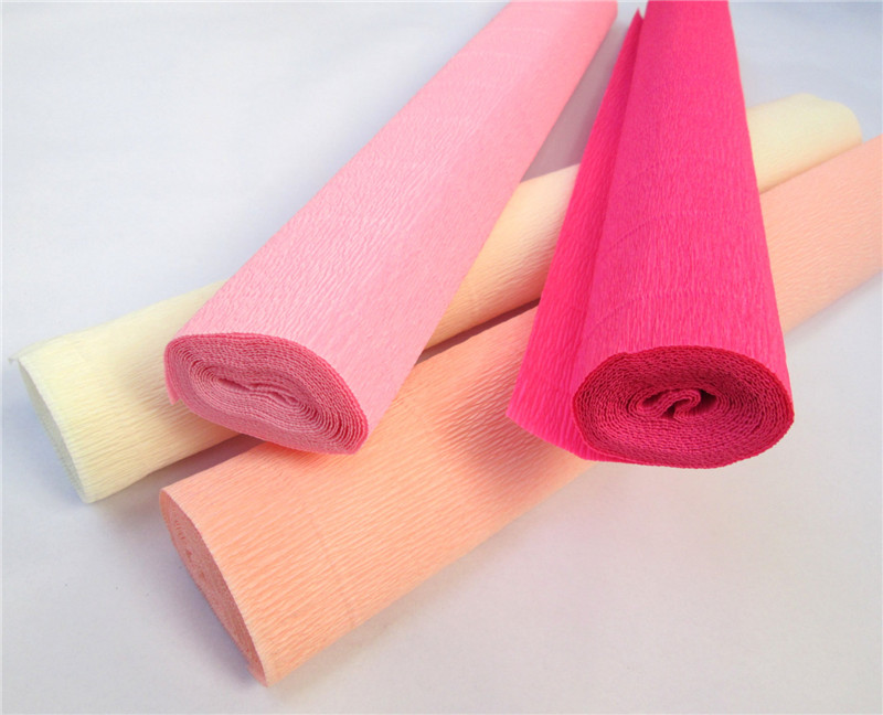 250x50cm Dyed Crepe Paper Rolls Gift Wrapping Crafts
