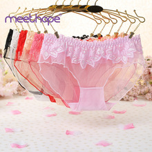 Erotic embroidery mesh underwear womens sexy lace transparent female exotic style