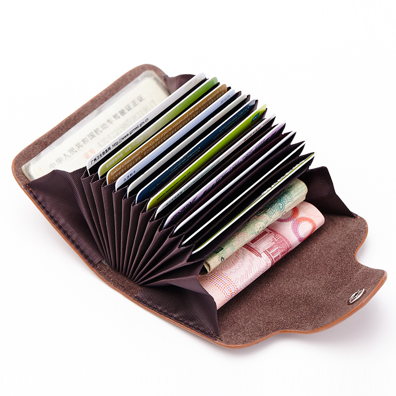 2018 Genuine Leather Women Men ID Card Holder Card Wallet Credit Card Holder Business Card Holder Organizer porte carte DC168 hot sale 2015 harrms famous brand men s leather wallet with credit card holder in dollar price and free shipping