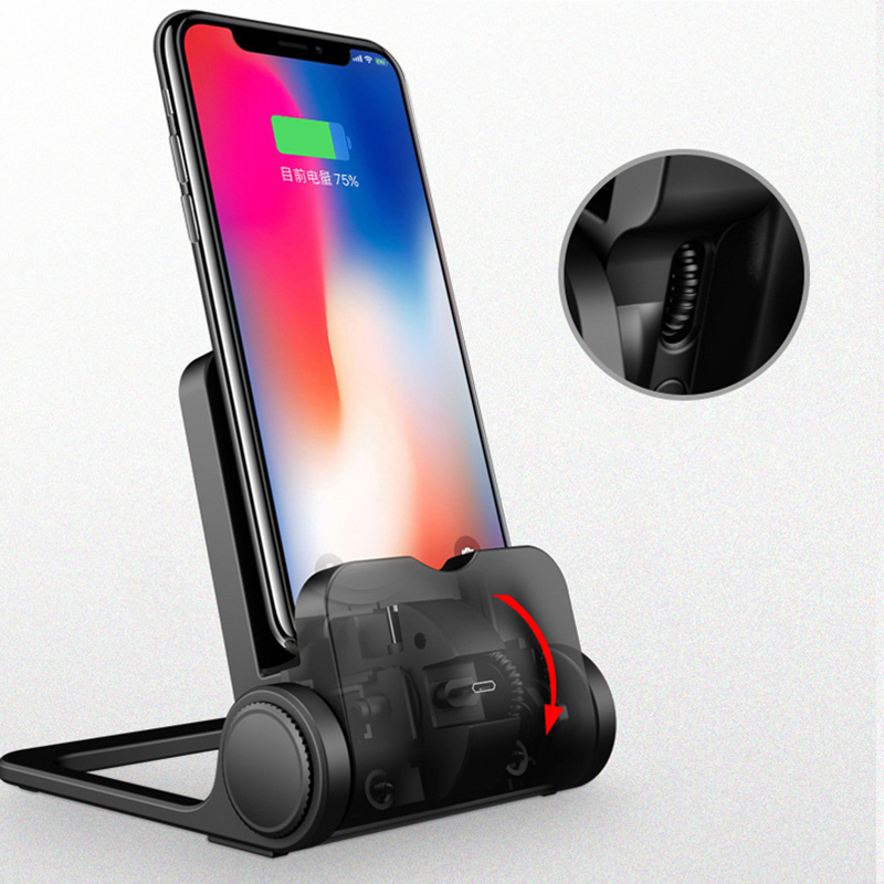2018 WQ29 Mobile Phone Wireless Charger For iPhone7 8 X Charging Holder 3 in 1 Micro Type C for Smaung Xiaomi Wireless Charging