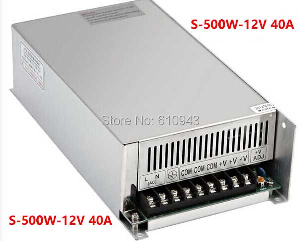 S-500W-12V 40A  Single Output Switching power supply for LED SMPS AC to DC single output dc 36v 8 3a 300w switching power supply for led light strip110v220v ac to dc36v smps with cnc electrical equipment