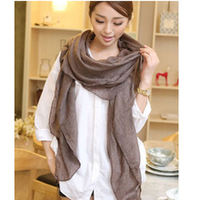 Solid Color Scarf Soft Cotton Shawls and Wraps