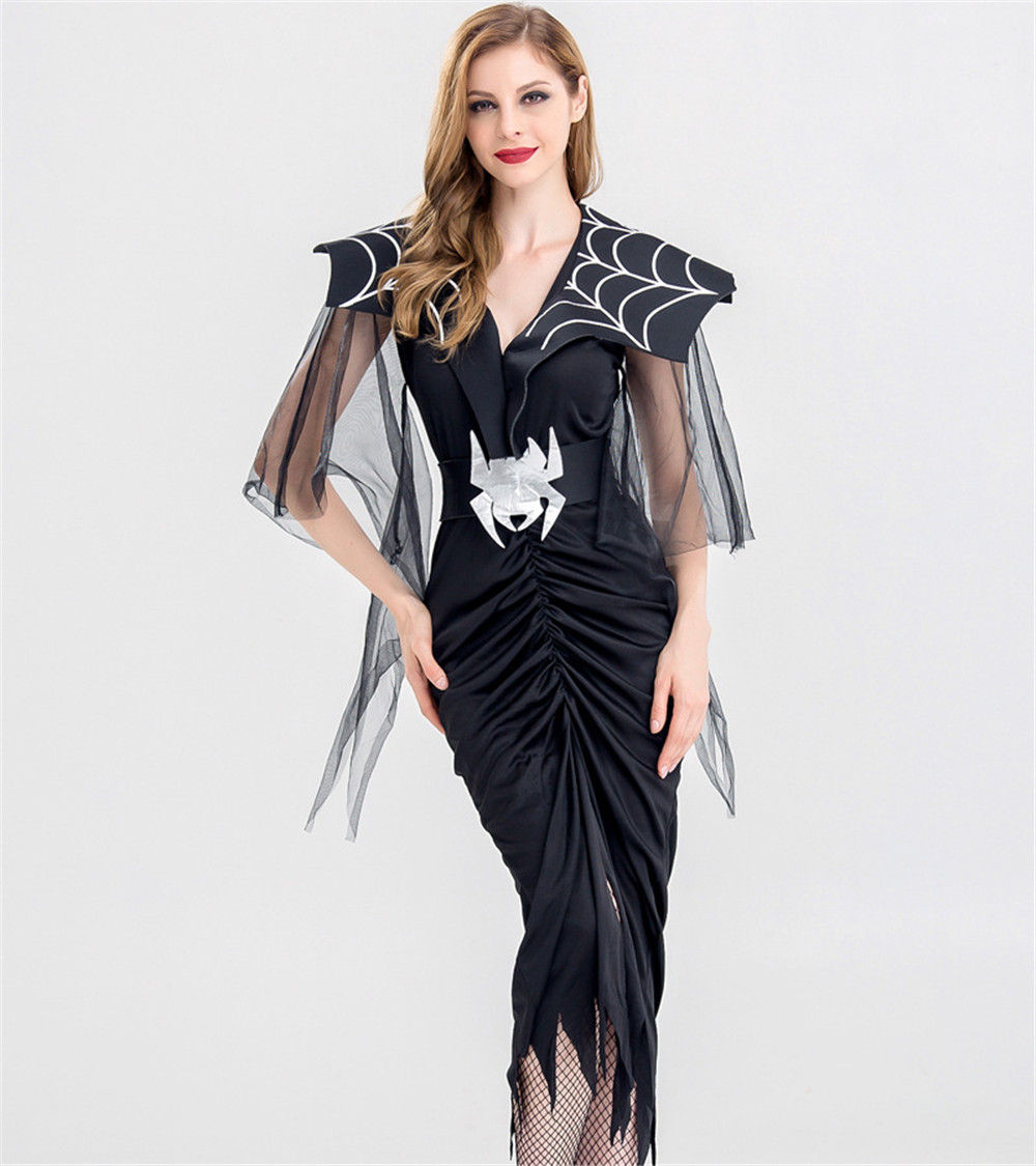 <font><b>Halloween</b></font> <font><b>Costume</b></font> <font><b>Sexy</b></font> <font><b>Vampire</b></font> <font><b>Costume</b></font> Women Masquerade Party Cosplay Gothic <font><b>Vampire</b></font> Role Play Clothing Fancy Dress image