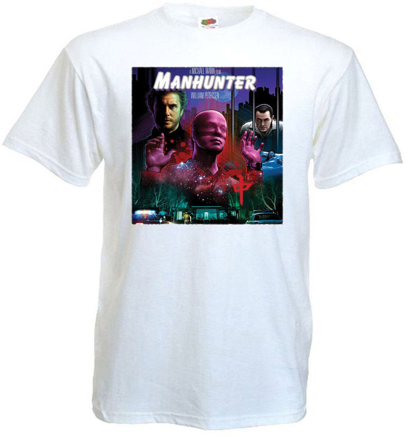 MANHUNTER V.5 Movie Poster T Shirt White All Sizes S-3XL Top Harajuku Short Sleeve Shirt Pop Cotton Man Tee