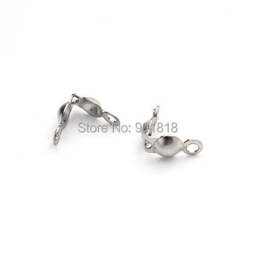50pcs/lot stainless steel connectors clasps fitting ball chain components jewelry accessories F2212
