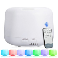 Eworld Remote Control 300ML Ultrasonic Air Aroma Humidifier With 7 Color Light Aromatherapy Essential Oil Aroma