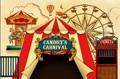 Nach karneval vintage circus gestreiften zelt heißer luft ballon hintergrund Hohe qualität Computer drucken party hintergründe|Hintergrund|   -