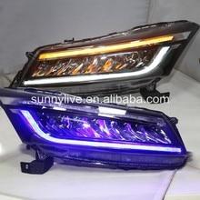 Белый и синий светодиодный drl фара для HONDA для Accord 2008-2012