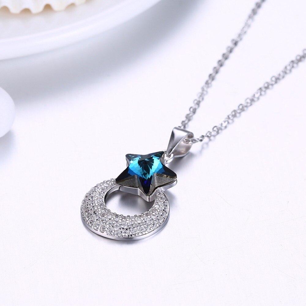 Luna ana corazón colgantes collares hechos con cristal de Swarovski - Joyas - foto 3