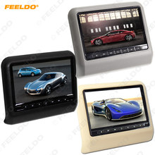 FEELDO 1PC 9 pulgadas coche reposacabezas LCD Monitor colgante reproductor de DVD con FM USB SD Juego 3-Color # MX3858(China)