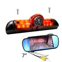 CCD Car Brake Light Reverse Camera For FIAT DUCATO 3 gen X250 Peugeot BOXER Citroen JUMPER IR Light Rear Camera and monitor kit