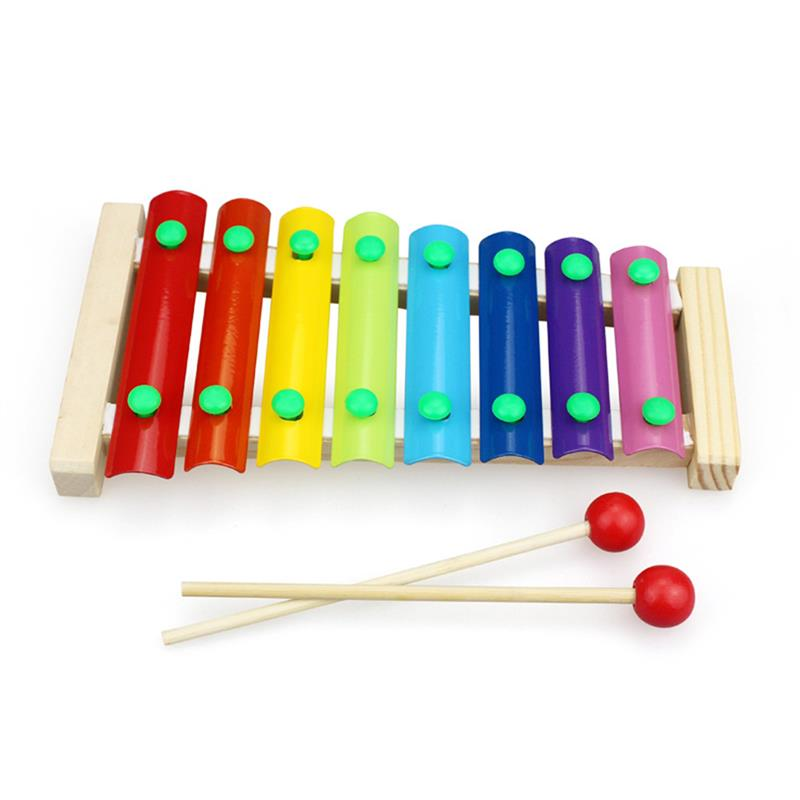 Xylophone For Kids Musician Child-Safe Wooden Mallets-Little Hand Create Magical Sounds Educational Percussion Instrument Bright