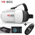 3D VR Glasses Headset BOX 3D Head Mount Virtual Reality Movies Games for 4.7-6.0 Inch Phone + Bluetooth Remote Control