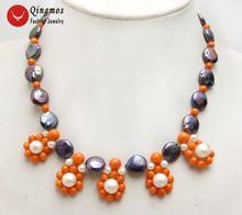 Женское ожерелье с подвеской из натурального жемчуга 12 13 мм