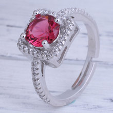 925 Sterling Silver Fashion Women's Extravagant Square Rings Weddings Party Fine jewelry Ring