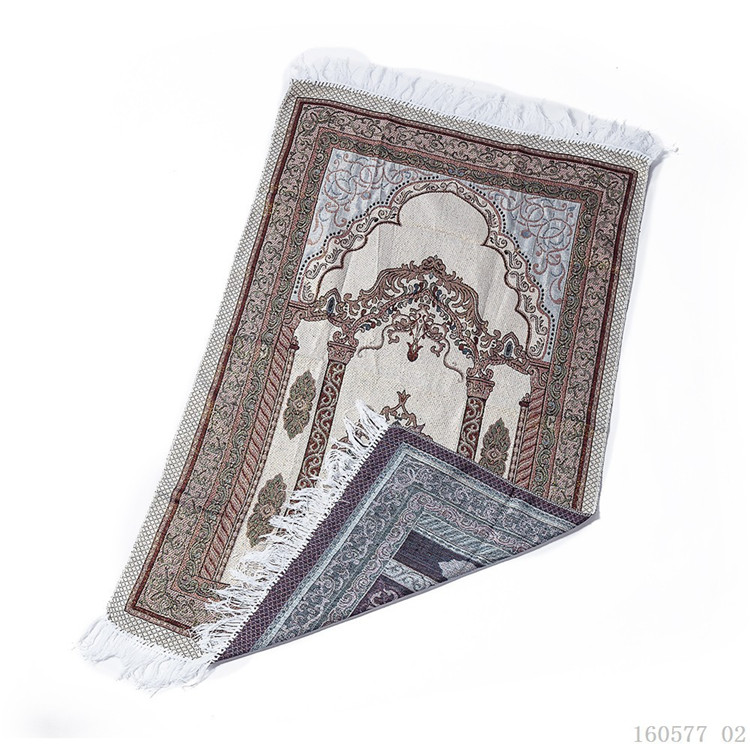 Portable Thin Islamic Prayer Mat Muslim Salat Musallah Travel Praying Rug Carpet Sajadah Islamic Praying Mat Blanket with Bag