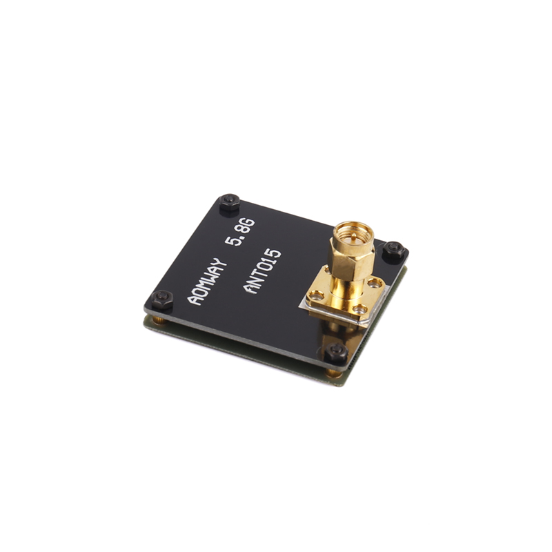Yuenhoang 1PC AOMWAY 5.8G 8dbi Antenna TBS Double Layer Plate SMA Connector Inner Thread Antenna Wire for RC Aircraft Drone FPV superior fpv connector 6pcs 5 8g right angle sma female male antenna connector for rc aircraft fpv electrical terminals aa