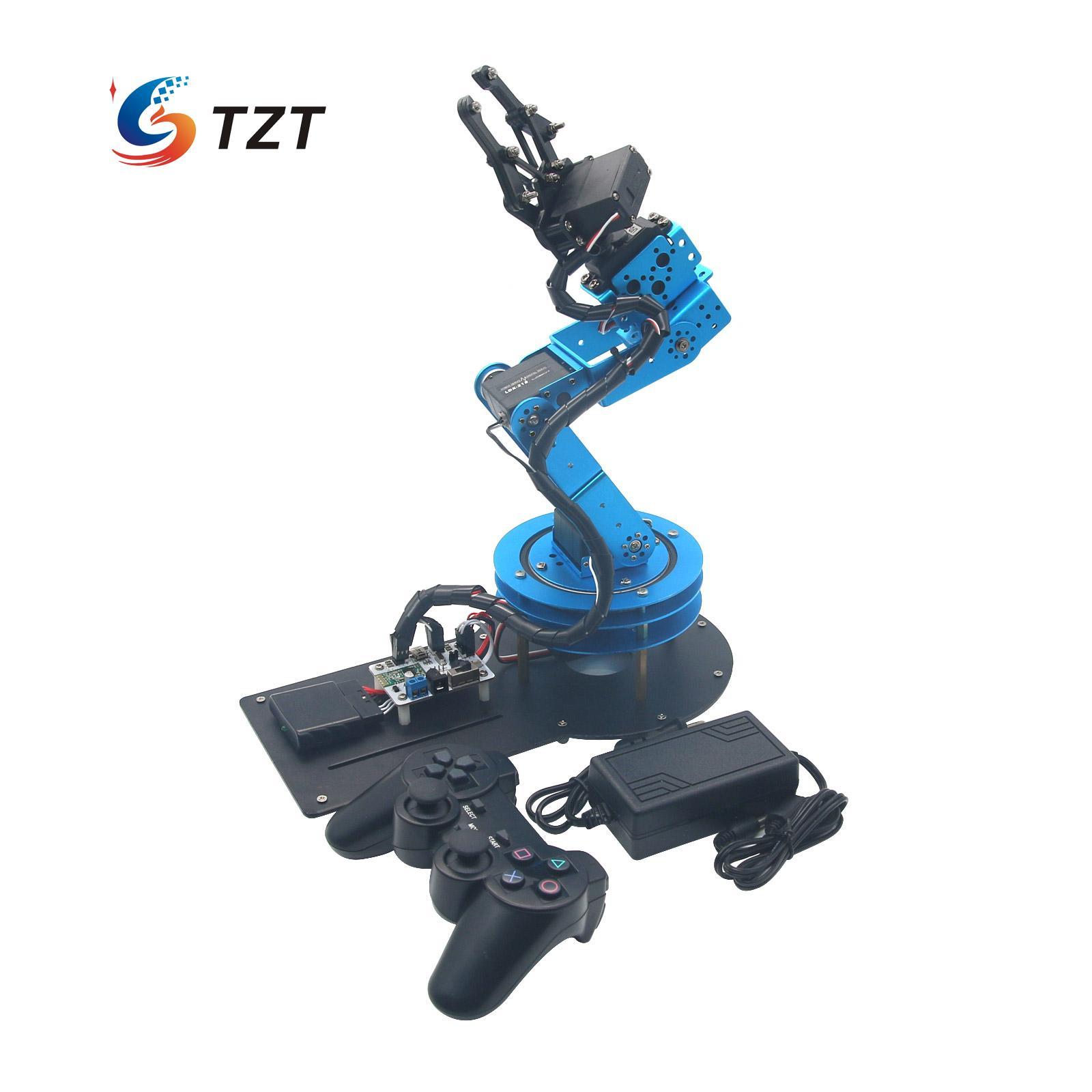 2018 LeRot 6DOF Mechnical Robot brazo con Servo Digital y controlador para DIY Unassembled