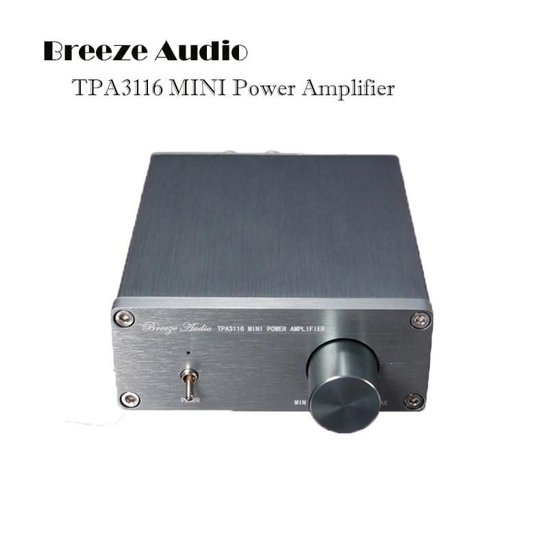 hot Breeze Audio BA100 HIFI Class 2.0 50W + 50W Stereo Digital TPA3116 Mini Portable Power Digital Amplifiers