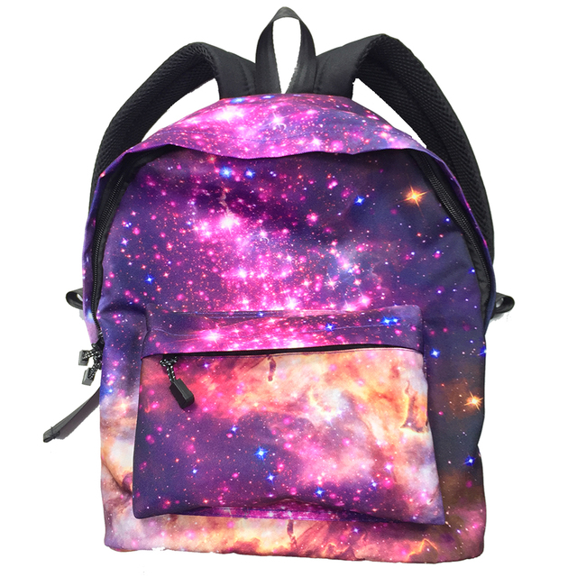 Galaxy Backpack Star Universe Space Multicolor Casual Fashion For Girls  Teenagers School Book Bags Women Mochila