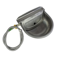 Stainless Steel Cow Cattle Water Bowl Supply Drinking Float Ball  Feeder Automatic With Pipe Outlet Livestock Tool