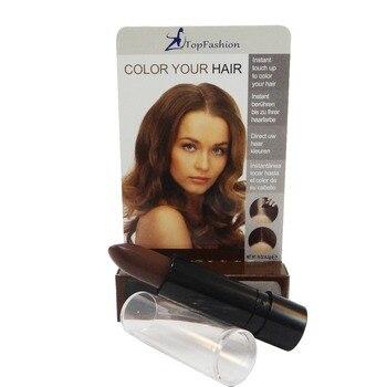 Brązowy Kosmetyczne Tymczasowe Dotykowy Up Stick Spotkać FDA Regulacji EWG TOPFASHION Pokrywa Makijaż Szary Kolor Włosów Stick (802 H)