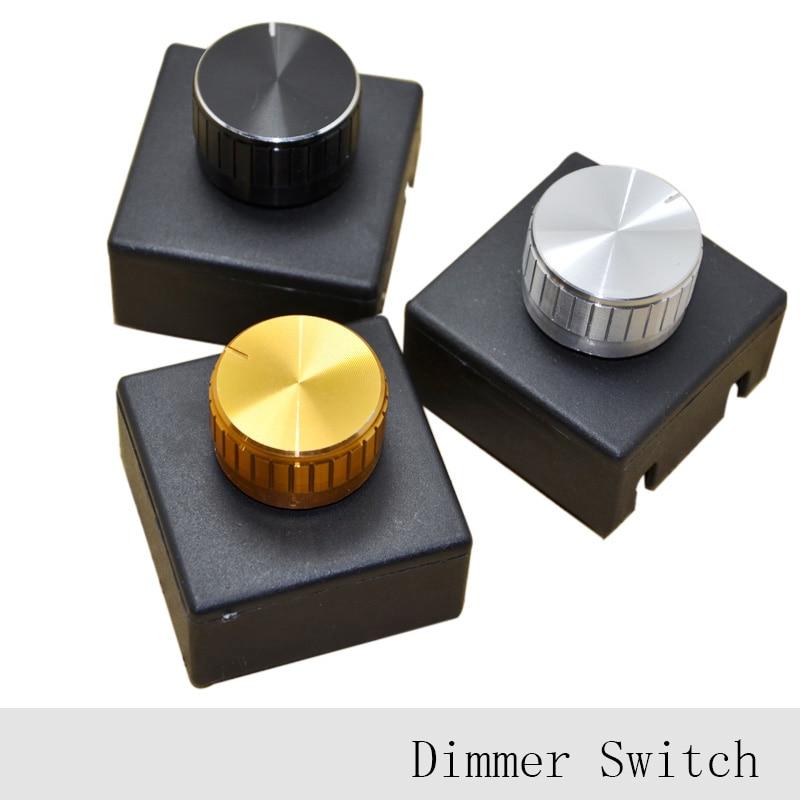 Adjustable controller diy led dimmer switch for table light floor 3pcs 220v 3a lamp knob dimmer switch hotel bedside table lamp wall light dimmers switch good greentooth Images