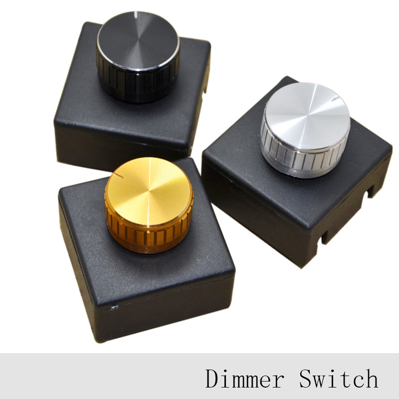 ᗔ3pcs 220v 3a Lamp Knob Dimmer Switch Hotel Bedside Table Lamp Wall