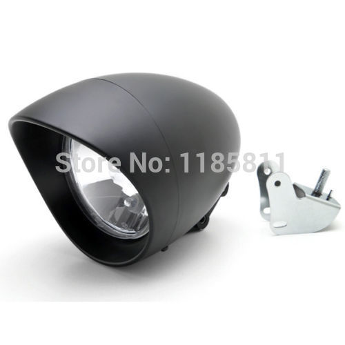 Motorcycle Headlight Black W/ Bracket Chrome LOW & HIGH BEAM For Honda Shadow Aero Phantom VLX 750 1100 VT Cruiser Chopper