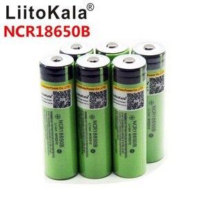 Image 2 - 8PCS liitokala 18650 3400mah חדש מקורי NCR18650B 3200 3400 סוללת ליתיום לפנס
