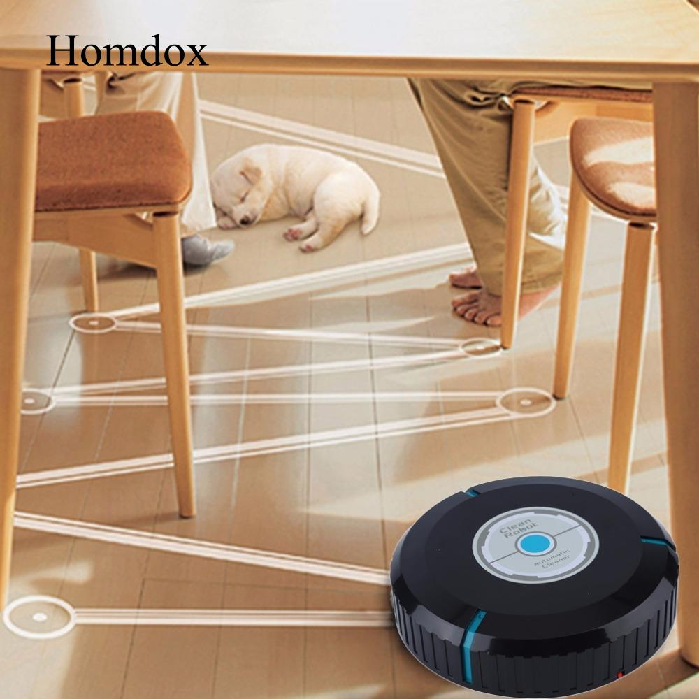 Homdox Home Auto Cleaner Robot Microfiber Smart Robotic Mop Floor Corners Dust Cleaner Sweeper Vacuum Cleaner цена 2017