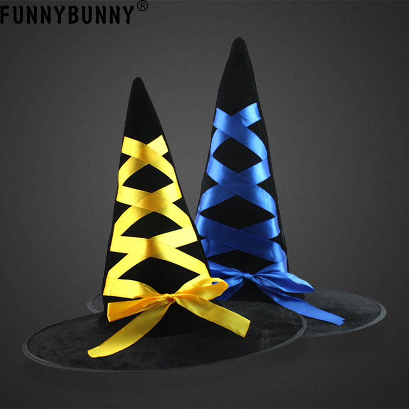 FUNNYBUNNY Party Perform Supplies Halloween&Christmas Dance Hat Wizard&Witches decoration