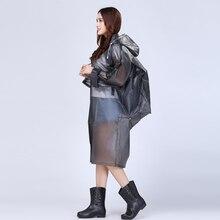 Transparent backpack Raincoat poncho Women Men waterproof Long hiking Rain Coat Poncho Jacket Chubasqueros Impermeables Mujer
