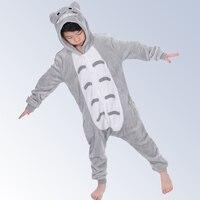 Animal Totoro Pyjamas Baby Autumn Winter Flannel Boys Girls Pajamas Cute Hooded Kids Sleepwear Pijamas cosplay Onesie 4 12Year