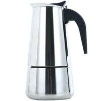 Draagbare Espresso Koffiezetapparaat Moka Pot Rvs Koffie Brouwer Waterkoker Pot Voor Pro Barista 2cup/4cup/6cup /9cup/12cup