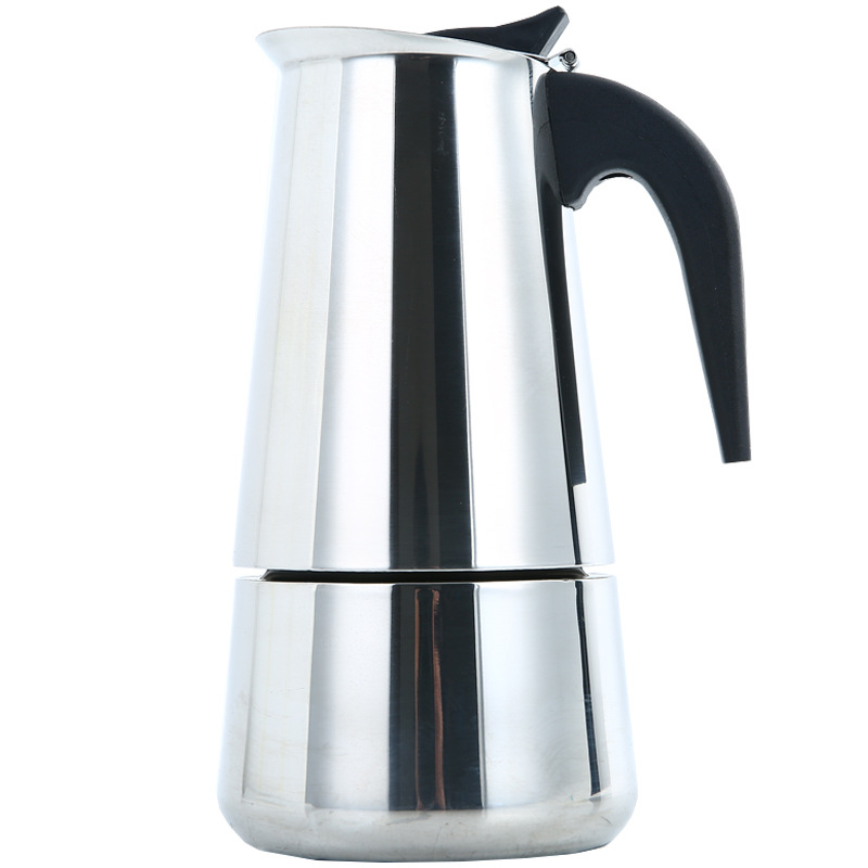 Portable Espresso Coffee Maker Moka Pot Stainless Steel Coffee Brewer Kettle Pot For Pro Barista 2cup/4cup/6cup/9cup/12cup