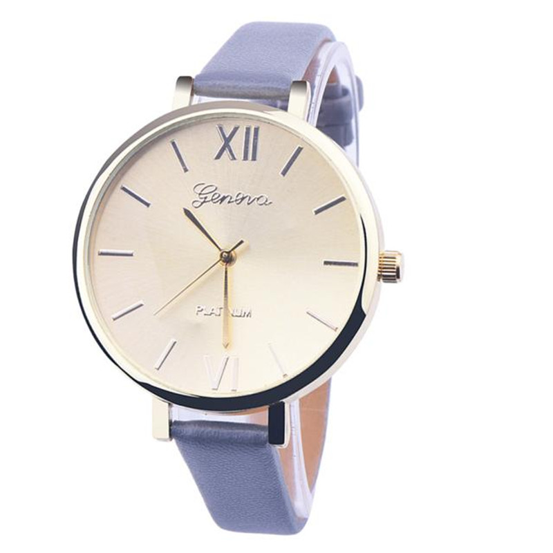 Fashion Women Bracelet Watch Geneva Famous Brand Ladies Faux Leather Analog Quartz Wrist Watch Clock Women relojes mujer beffery 2018 spring patent leather shoes women flats round toe casual shoes vintage british style flats platform shoes for women
