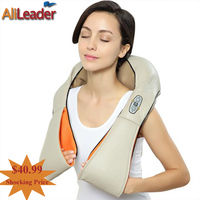 Health Care Massager 4D Human Shiatsu Kneading Massage Pillow With Heat For Back Neck Arm Waist