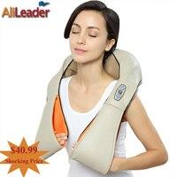 Health Care Massager 4D Human Shiatsu Kneading Massage Pillow With Heat For Back Neck Arm Waist