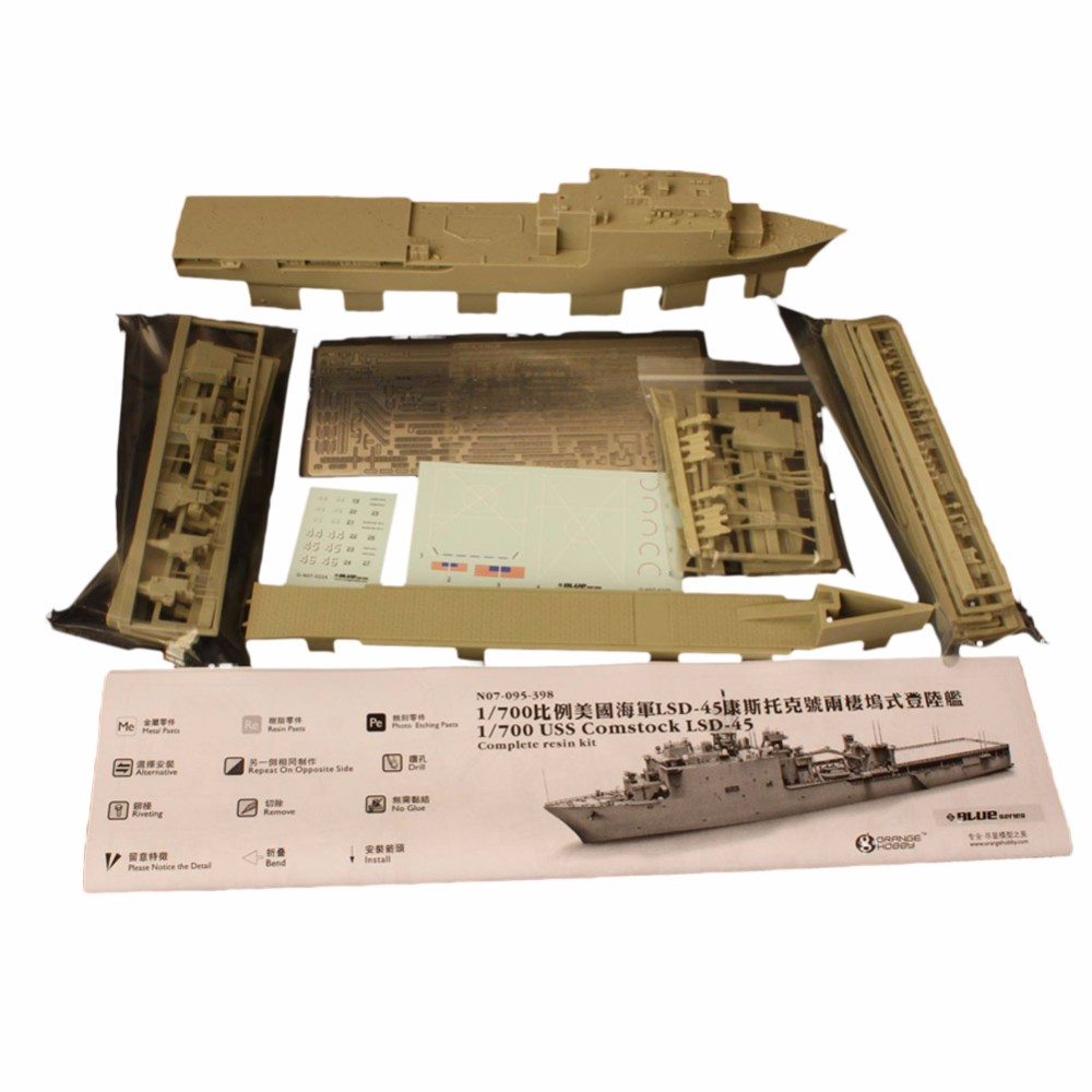 OHS Orange Hobby N07095398 1/700 USS Comstock LSD45 landing ship Assembly Scale Military Ship Model Building Kits na4910 heavy duty needle roller bearing entity needle bearing with inner ring 4524910 size 50 72 22