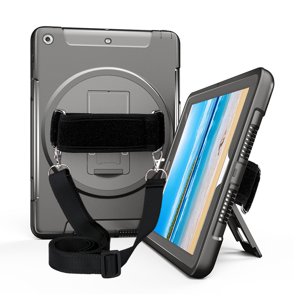 Case for iPad 2018 9.7 6th Generation with 360 Adjustable Rotating Hand Strap and Neck Strap,Rugged Hybrid Protector-Miesherk Price $28.65