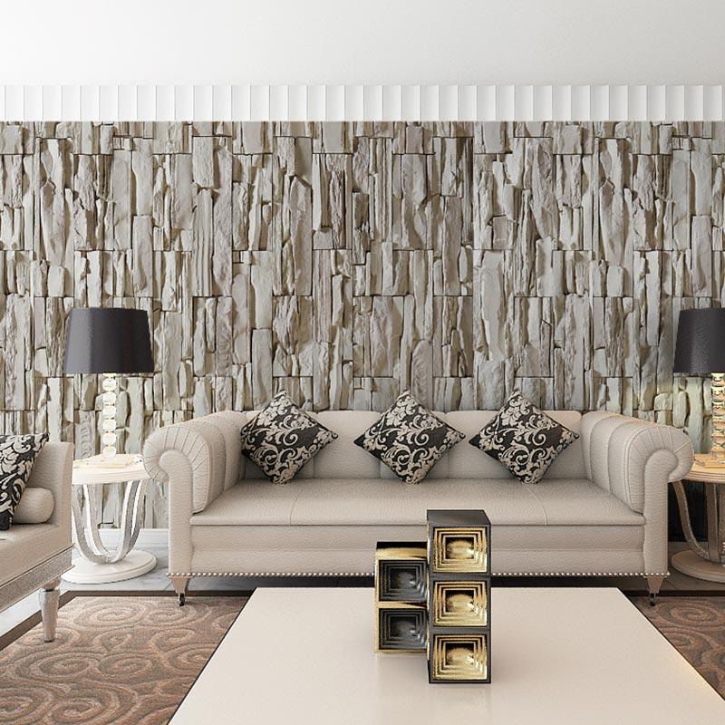 Modern 3D Grey Brick Wallpapers Custom Photo Wall Mural 3 ...