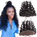 7A Brazilian Lace Frontal Closure Loose Wave Hair 13x4 Full Lace Frontal Ear to Ear Lace Frontal Closure With Baby Hair