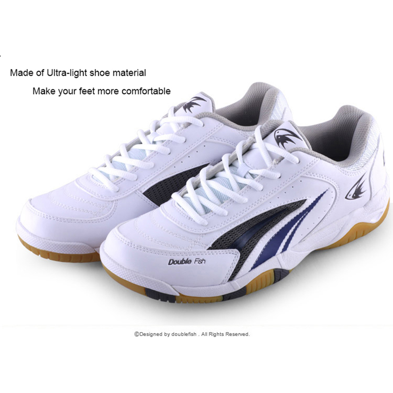 DOUBLE FISH table tennis Shoes Breathable Anti-slippery cushioning ping pong Sneakers Running Shoes For Men Women aldomour breathable volleyball shoes sneakers stability anti slip ping pong shoes breathable table tennis shoes volleyball shoes