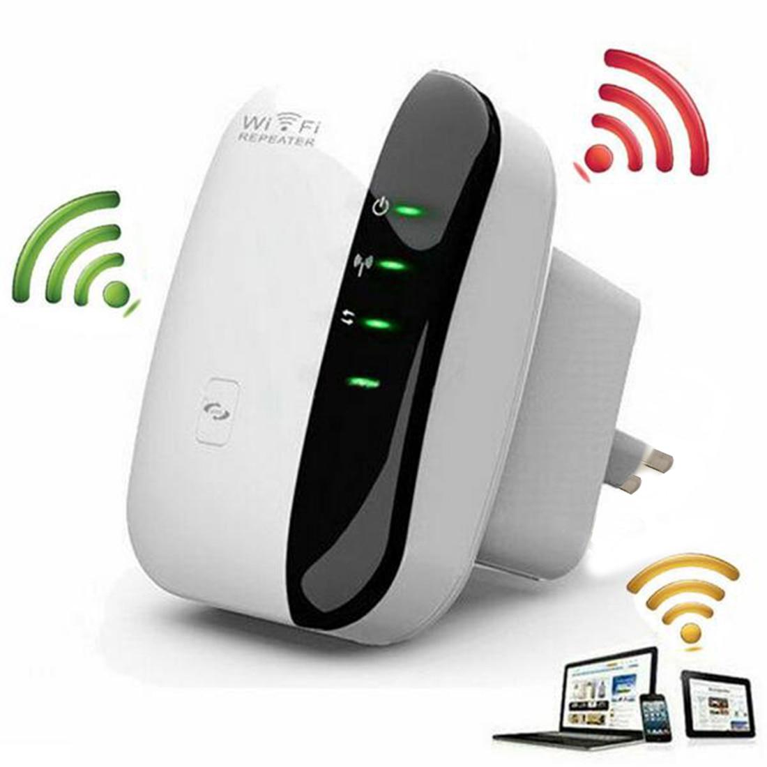 Nuovo Wireless-N Wifi AP Repeater 802.11b/g/n di Rete Wifi Router Expander Antenna Esteso Segnale Wi-Fi ripetitori di 300 Mbps Spina di UE