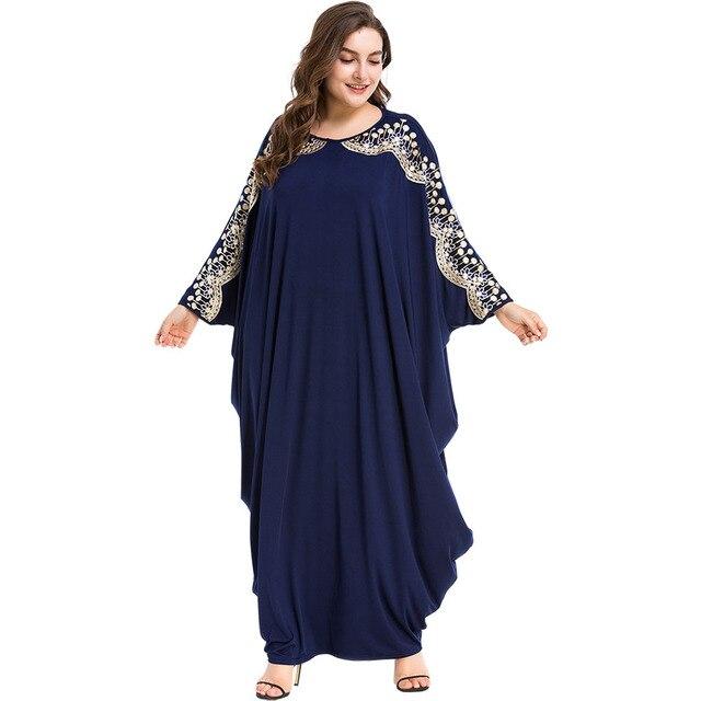 TUHAO Autumn Winter Plus Size Arab Elegant Abaya Dresses Kaftan Islamic Muslim Dress Clothing OVERSIZE Women Dubai Abaya ZL49
