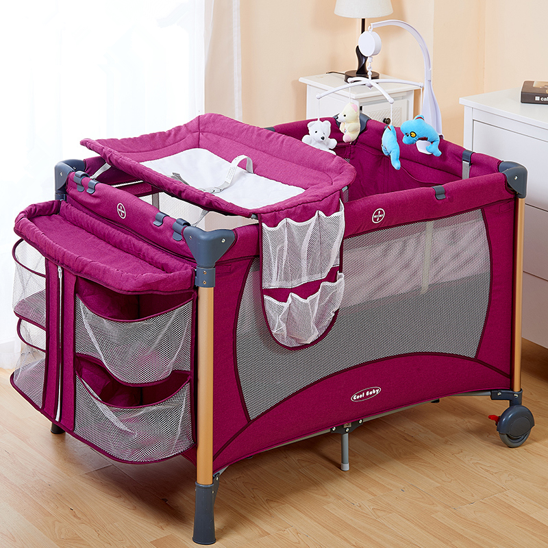 Baby's Folding Bed : ... folding baby crib infant baby bed portable playpen sleep game bed