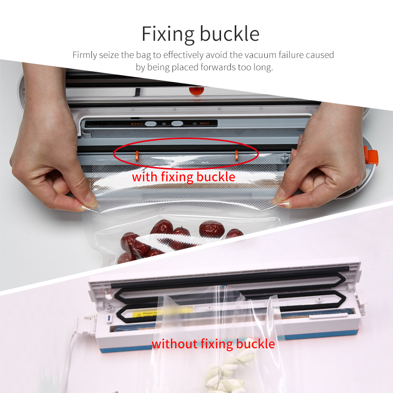 2000mAh Wireless Food Vacuum Sealer Travel Packaging Machine With 10pcs Bags